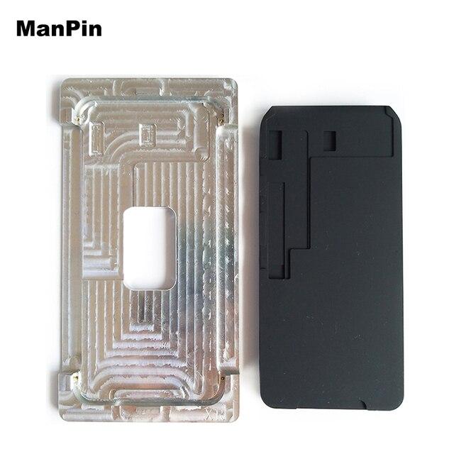 Khuôn Kim Loại Cho iPhone XS Max XR Màn Hình LCD Liên Kết Không Gấp Gọn Flex OCA Cán Cao Su Silicone Lót Điện Thoại Di Động dụng Cụ Sửa Chữa