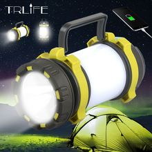 цены 4200Mah Super Bright LED Searchlight Outdoor Handheld Portable Spotlight Lantern Rechargeable Flashlight USB Long Shots Lamp