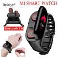 M1 plus récent AI montre intelligente avec Bluetooth écouteur moniteur de fréquence cardiaque bracelet intelligent Sport montre hommes pour Android IOS