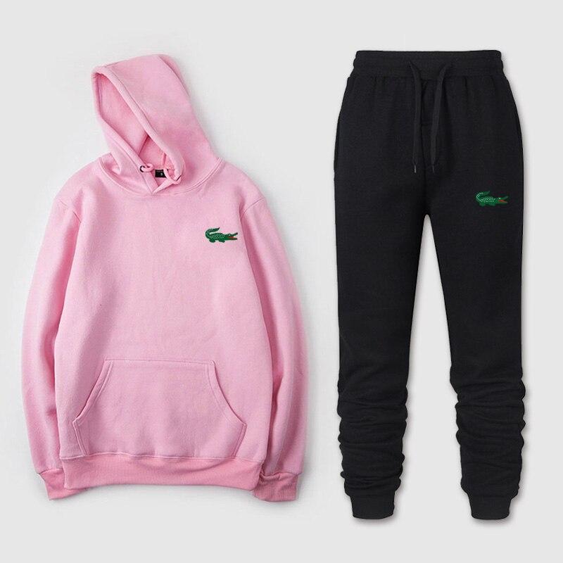 Winter Fashion Mens Tracksuit 2019 Men's And Women's Sports Pants + Hooded Sweatshirt Chandal Hombre Jogging Sportswear Suit 3XL