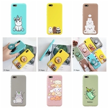 Honor 7A dua-l22 Case for etui Huawei Y5 Prime 2018 Phone Stand Holder Kawaii Silicone Cover