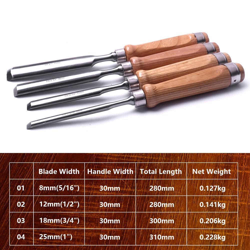 Hand Gouge Circular 12mm 25mm Chisels Wood Steel Tools Chisels Chrome Diy Semi 4Pcs Woodworking Carving Vanadium 8mm 18mm