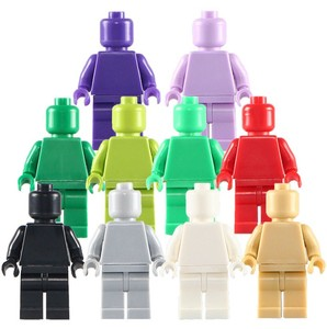 *blank Minifigs without print* 20 pcs DIY enlighten block bricks,Compatible With Other Assembles Particles