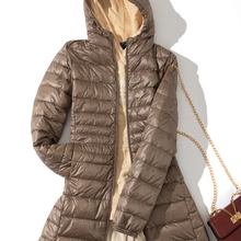Coat Jackets Parkas Hooded White-Duck-Down Ultra-Light Portable Winter Woman Female Fall