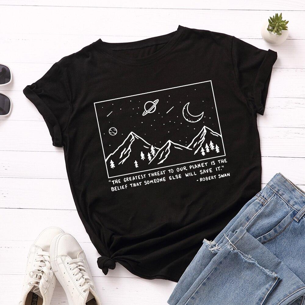 SINGRAIN Harajuku Women Summer Print T-shirt Plus Size O Neck Short Sleeves Loose Goth Tops Chic Casual Aesthetic Cotton Tees(China)