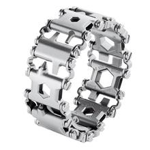 29in1 Multi Tool Stainless Steel Bracelet for Outdoor Camping Hiking Travel Practical Camping Emergency Tools Home Repair Gadget