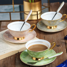 Mugs Cup Tea Milk Coffee Cups With Handle Ceramics Spoon Dish Breakfast Exquisite Gifts Drinkware