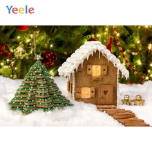 Yeele Christmas Backdrop Candy Sweet Biscuits House Photography Background For Photo Studio Photobooth Shoot Photophone Props