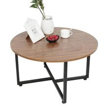 Bed Coffee-Table Living-Room-Furniture Service-Plate Wood Cafe Round Nordic Sofa Tea