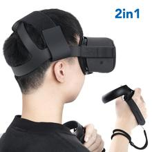 Oculus Quest Headband strap with 1 Pair Knuckle Strap for Oculus Quest Virtual Controller Accessories