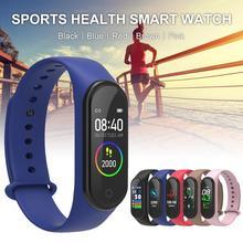M4 Color Screen Fitness Bluetooth Waterproof Smart Watch Heart Rate Sleep Tracker Monitor Bracelet Call Reminder Multi-spo