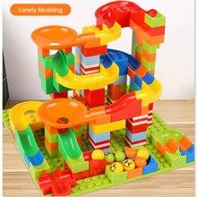 165/330 pcs mármore corrida bloco, compatível com dupla funil, blocos de construção, diy, tijolos, brinquedo, presente de natal, atacado
