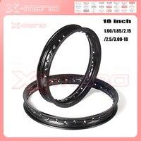 High quality 1.60/1.85/2.15/2.50/3.00 *18 x 18 inch 36 Spokes Holes Aluminum Alloy Motorcycle Wheel Rims Circle