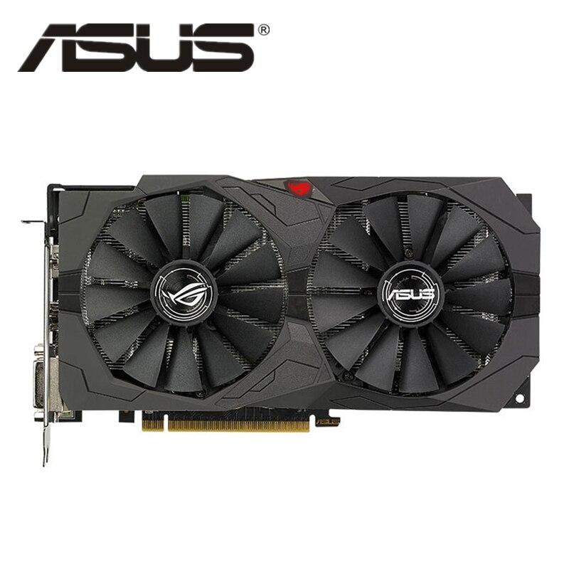 Видеокарта ASUS RX 570 4 Гб, графический процессор AMD Radeon RX570 4 Гб, игровые видеокарты для PUBG, компьютерная игровая карта, экран 580 560 550 HDMI VGA DVI
