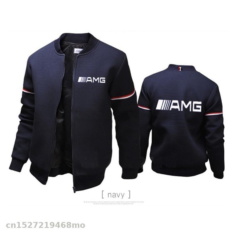 Lightweight Knit Jacket For AMG Logo Zipper Sportswear Jacket Coat Man Pilot Jacket Casual Windbreaker Motorcycle Coats Ae