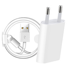 USB Charger Kit 1M 2M Cable EU Wall Charger For iPhone Cable 12 11 Pro XS MAX X XR 8 7 6 6s Plus Charging Cord Data Sync Charger