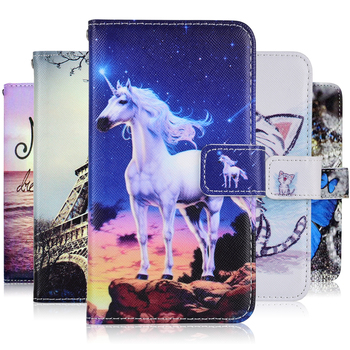 Fashion Cartoon Wallet Case for Huawei Y7 Prime 2019 Cover PU Leather Case for Huawei Y9 Prime 2018 2019 P Smart Plus Case image