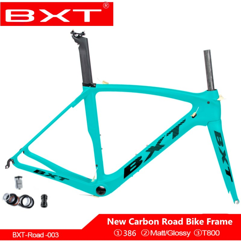 New BXT Brand T800 Carbon Road Bicycle Frame V Brake Carbon Road Cycling Frame Bike Frame With Fork 700c Bicicleta Frameset