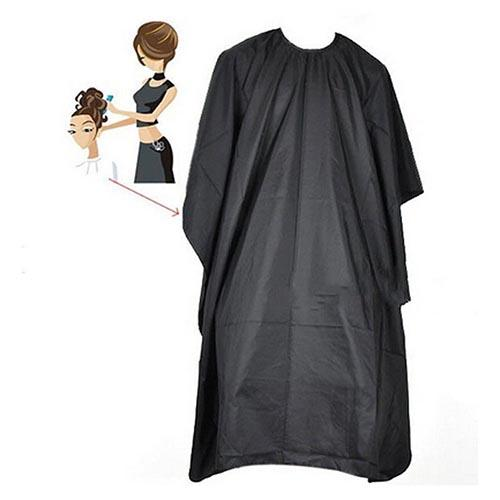 Adult Black Salon Hair Hairdressing Cutting Cape Barbers Shop Gown Cloth Cover Hair Styling Design Tablier Supplies Salon 1pcs image