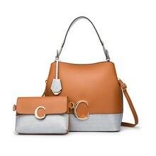 Ceossman Hot New 2Pcs/Sets Women Handbags Leather Shoulder B