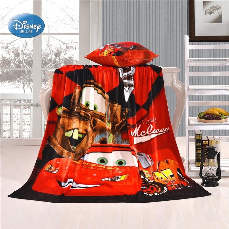 Disney Lightning McQueen Car Blanket Throw Coral Fleece Blanket Cars Taking The Race For Toddler Children Boys Gift Single Bed