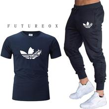 Summer new Sport Suit Quick Dry Tshirt + pants Suits Loose Tracksuits Men Autumn Gym Fitness Running Set Jogging Tracksuit
