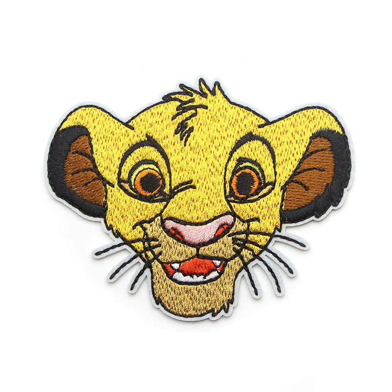 Lion king Simba Cartoon Iron on Patches Clothing para diy Embroidered badges Sewing Applique Patchworks stickers E0076