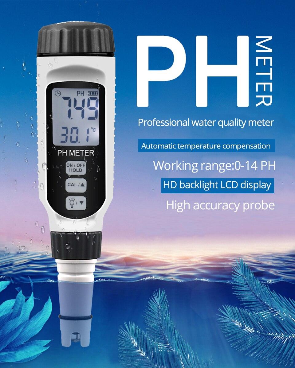 Meter Acidity Pen Aquarium Meter Tester Type Acidometer Professional For PH PH818 Measuring Acidimeter Water PH Quality Water