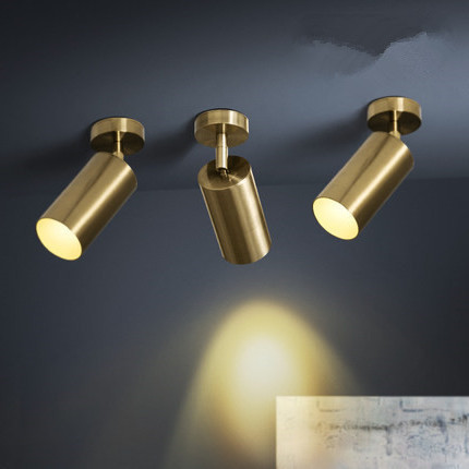 Modern Led Smallpox Guide Rail Track Pendant Light Clothing Store Background Golden Lamp Type hanglamp