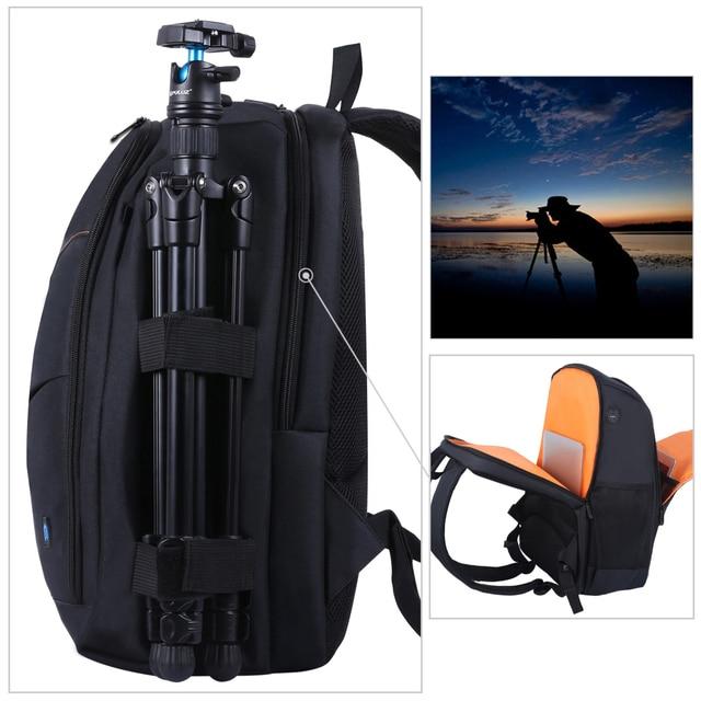 PULUZ Photo Backpack DSLR Bag Tripod Bag Outdoor Portable Waterproof Camera Photography Sac Appareil Reflex Black Sac appareil 5