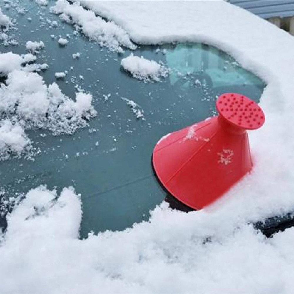 1x Car Windshield Magic Ice Scraper Tool Cone Shaped Outdoor Funnel Remover Snow