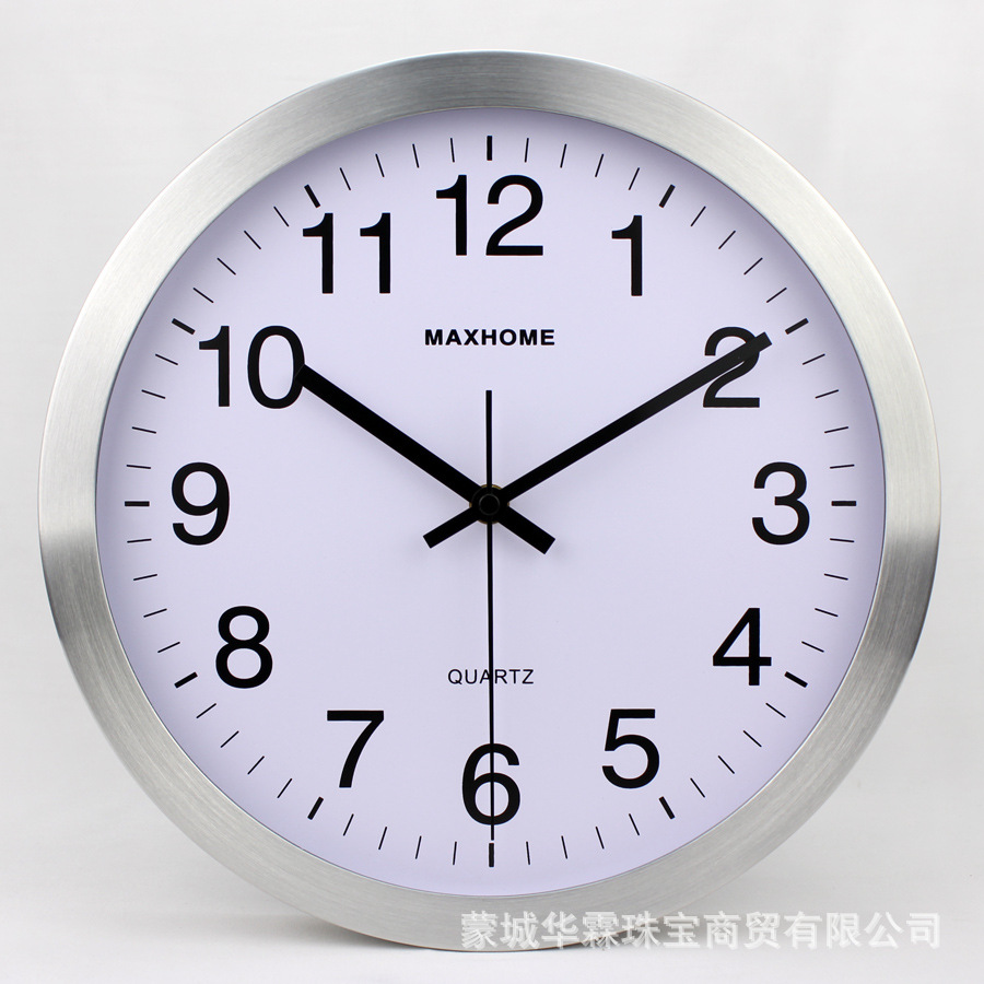 Horloge murale en métal Sangtai balayage muet mouvement classique maison bureau décoration mode Simple salon horloge - 3