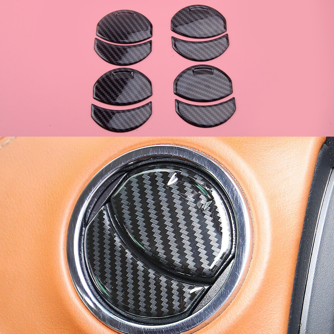8pcs/Set Front Air Vent Outlet Overlay Cover Trim Decoration Car ABS Fit for Toyota Tundra 2014 2015 2016 2017 2018 2019 2020