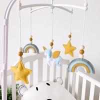 Baby Mobile Krippe Rasseln Spielzeug für 0-12 Monate Neugeborenen Krippe Hängen Bett Glocke Hairball Rasseln Rotierenden Halter Arm zimmer Dekoration