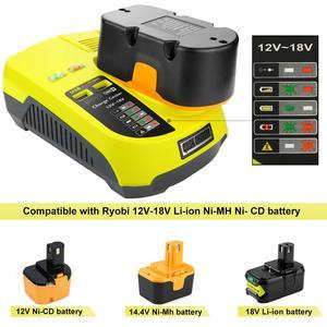 Image 1 - Cargador P117 para Ryobi, 12V 18V, cargador de batería Dual de iones de litio ni cad Ni Mh, fuente de alimentación máxima de 12V a 18V
