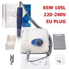 65W 35000RPM elektryczna wiertła do paznokci plik Pedicure zestaw do pielęgnacji Salon maszyna szybka maszyna zestaw do Manicure i Pedicure