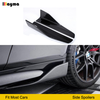 Carbon Side Röcke Für Audi A1 Sline A3 8V 8p sportback Limousine S3 RS3 sport styling seite spoiler 2 stücke-in Bodykits aus Kraftfahrzeuge und Motorräder bei