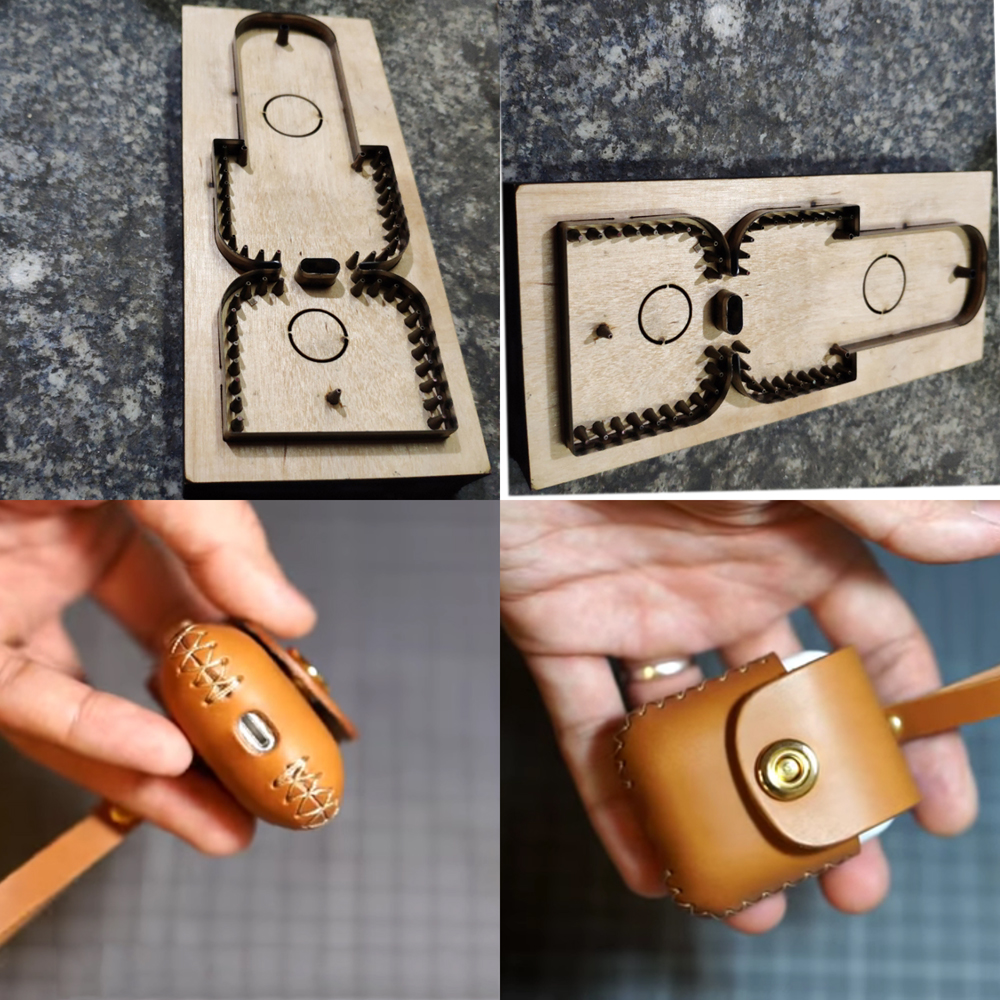 DIY leather craft earphone bag case die cutting knife mould hand tool metal hollowed puncher