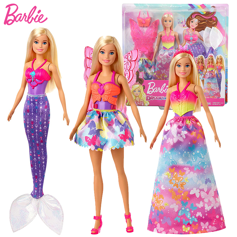 Barbie Original Fairytale Mermaid Rainbow Dolls  Body 1/4 Baby Dolls Toys for Girls Brinquedos Juguetes Girls Toys for Children