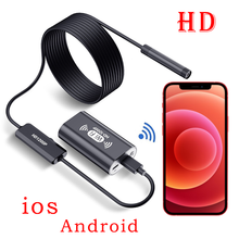 Камера-Эндоскоп для iphone, ios, 8 мм, светодиодная, IP67, водонепроницаемая, 1-10 м