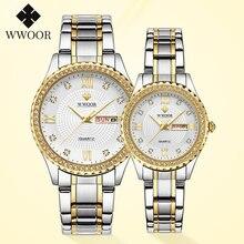 Wwoor 2020 часы для пар мужские и женские роскошные брендовые