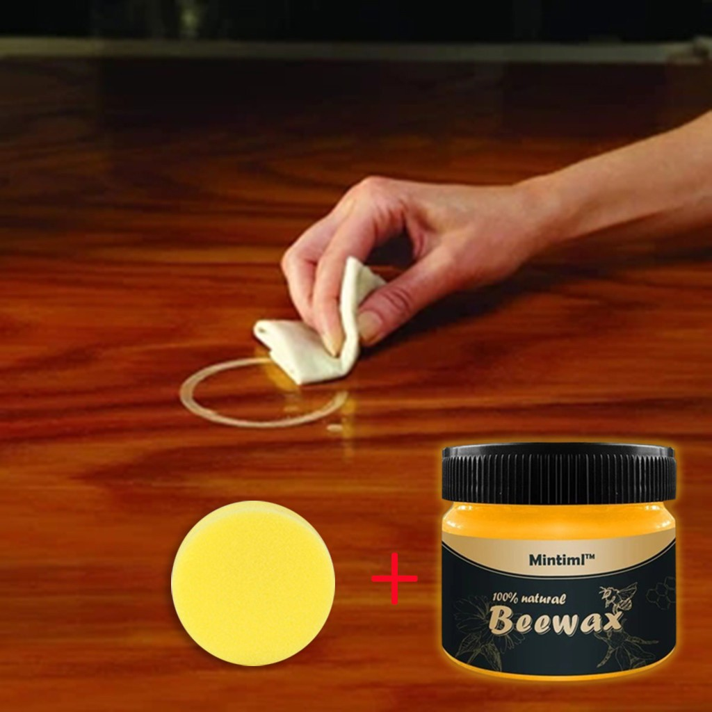 Beewax Organic Natural Pure Wax Wood Seasoning Complete Solution Furniture Care Beeswax Home Cleaning Cleaner Tools#5#25