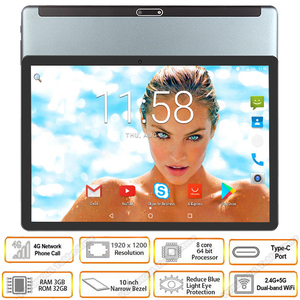 2020 New 5G wifi tablet 10 inch Octa Core Android 9.0 3GB RAM 64GB ROM 1920x1200 HD Screen 8.0MP Cameras 4G LTE Phone tablet GPS