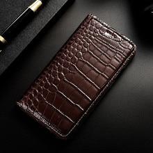 Crocodile Genuine Leather Case For Lenovo ZUK Z2 pro Edge Flip Cover Wallet Phone Shell
