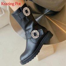 Krazing pot/рекомендуем натуральная кожа на среднем каблуке;