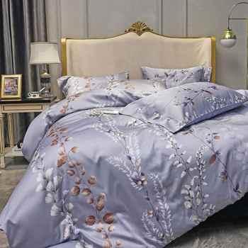 Svetanya Silkly Ägyptischer Baumwolle Bettwäsche Bettwäsche Gedruckt Blatt Kissenbezug Bettbezug könig königin Europa doppel größe