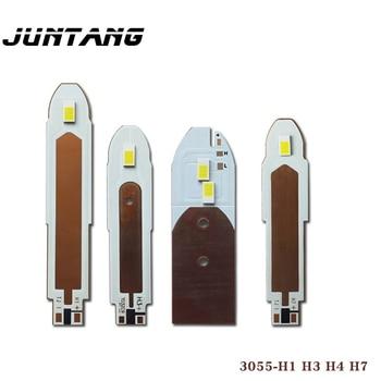 10 Uds coche lámpara LED con cuentas de luz blanca M2 Faro de doble panel con 3055 cuentas de la lámpara 15 W/cada H1/H3/H4/H7 bala de la lámpara de la cabeza