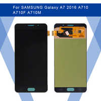 For SAMSUNG Galaxy A7 2016 A710 A710F LCD AMOLED Display Screen+Touch Panel Digitizer Assembly For SAMSUNG Display Original