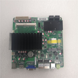 Intel Celeron J1900 mini-itx motherboard Onboard CPU 4 cores 2*LAN ports 170mm*170MM for nas desktop pc(China)