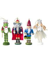 4Pcs/Set Wooden Painted Christmas Soldier Doll Ornaments Frog Mouse Queen Shaped for Children Gifts Toy for Christmas Decoration jillian hart a soldier for christmas